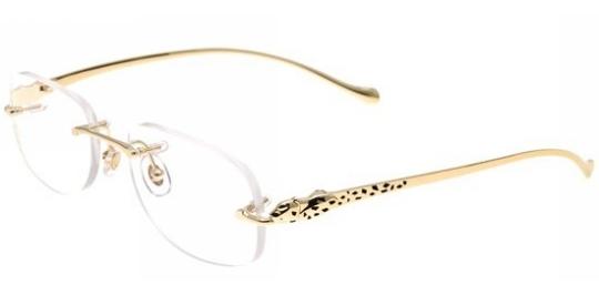 f1febf6b236 Cartier modele PANTHERE-DE-CARTIER-T8101080  Collection lunettes classique.